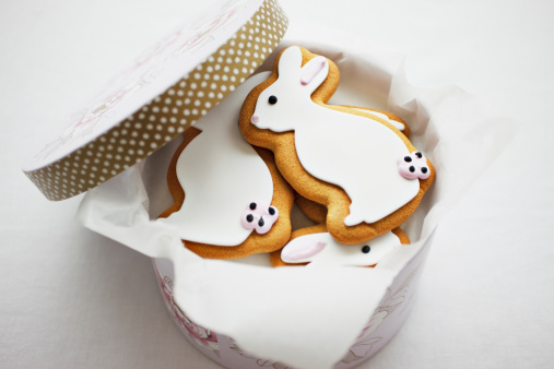 Cookie「Easter Bunny cookies in round box」:スマホ壁紙(12)
