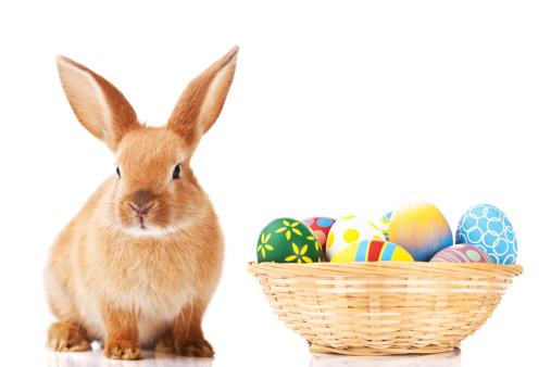 イースター「イースターバニーと卵」:スマホ壁紙(10)
