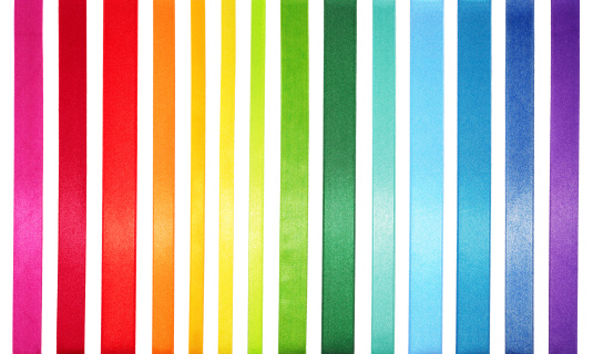 Ribbon - Sewing Item「A striped colored spectrum of rainbow colors」:スマホ壁紙(12)