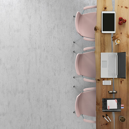 Pink Color「Office team desk business copy space knolling template」:スマホ壁紙(6)