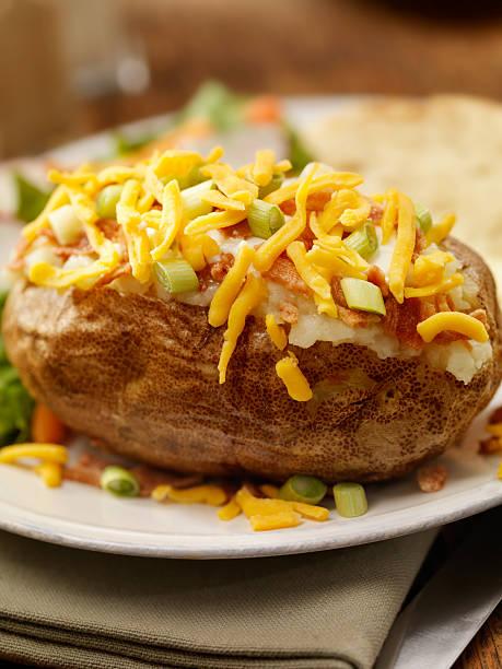 Baked Stuffed Potato:スマホ壁紙(壁紙.com)
