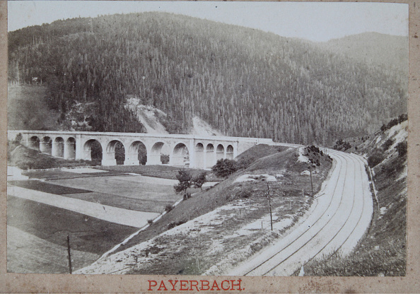 1880-1889「Viaduct Near Payerbach The Semmering Railway」:写真・画像(7)[壁紙.com]