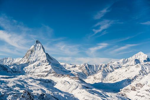 European Alps「Matterhorn Mountain Winter View」:スマホ壁紙(9)