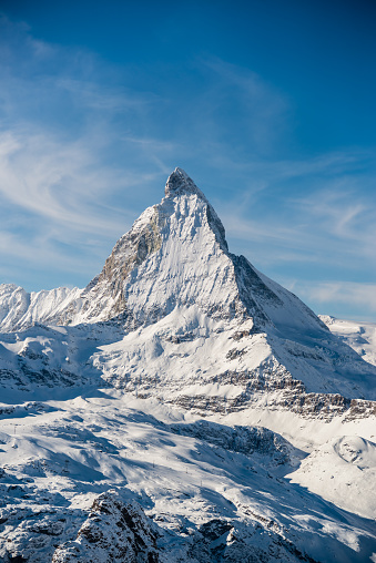 Pennine Alps「Matterhorn Mountain Winter View」:スマホ壁紙(11)
