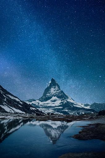 Starry sky「Matterhorn - night」:スマホ壁紙(14)