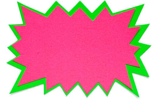 Fluorescent「Star shape blank postit note on white」:スマホ壁紙(16)