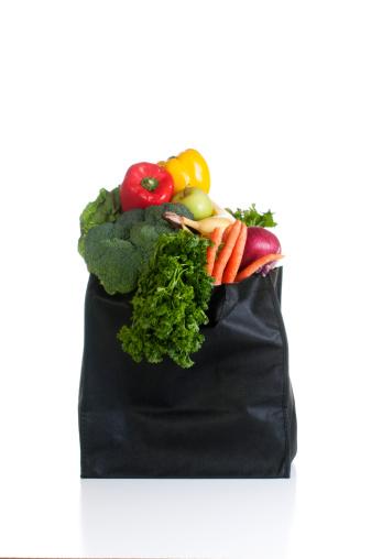 Reusable Bag「Bag of Vegetables isolated on White」:スマホ壁紙(14)