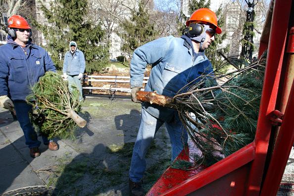 Recycling「New York Mayor Bloomberg Kicks Off Mulchfest 2003 」:写真・画像(5)[壁紙.com]