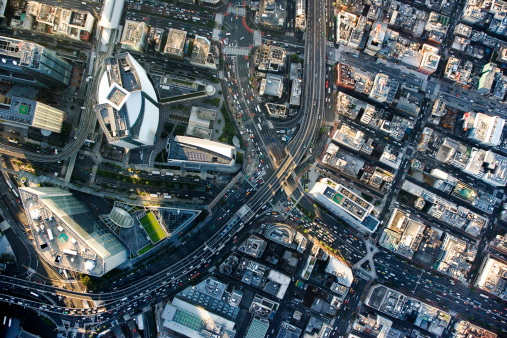 旅行「Japan, Tokyo, Shiodome, aerial view」:スマホ壁紙(12)