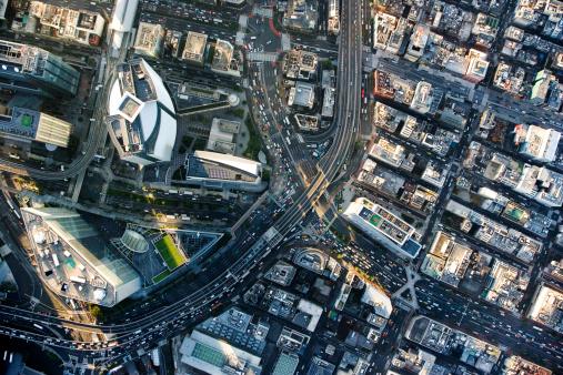 Aerial View「Japan, Tokyo, Shiodome, aerial view」:スマホ壁紙(6)