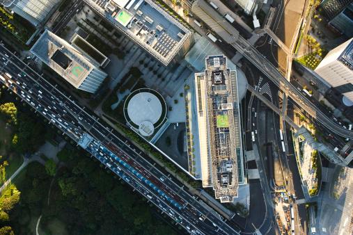 Minato Ward「Japan, Tokyo, Shiodome, aerial view」:スマホ壁紙(4)