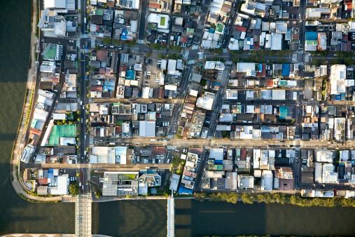 Corner「Japan, Tokyo, Tokiwa, aerial view」:スマホ壁紙(7)