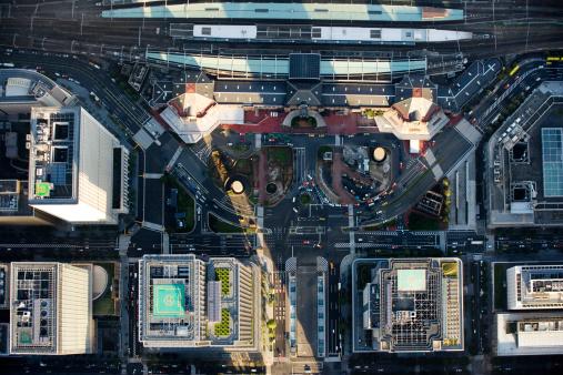 東京都中央区「Japan, Tokyo, Tokyo station, aerial view」:スマホ壁紙(4)