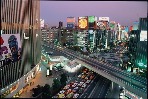 Karin「Japan, Tokyo, Ginza District, traffic congestion, elevated view」:スマホ壁紙(16)