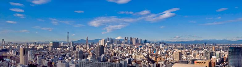 富士山「Japan, Tokyo, cityscape, elevated view」:スマホ壁紙(12)
