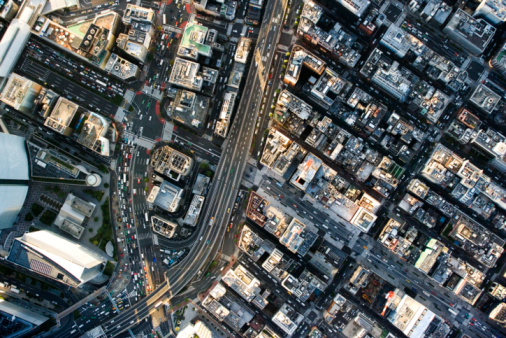 Tokyo - Japan「Japan, Tokyo, Shimbashi, aerial view」:スマホ壁紙(19)