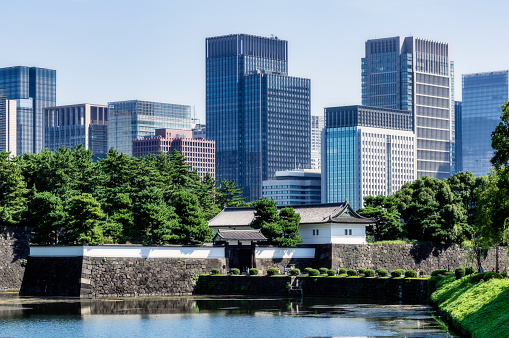 Tokyo - Japan「Japan, Tokyo, Chiyoda district, Lake in Imperial Palace area」:スマホ壁紙(15)