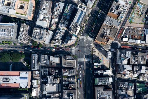 Tokyo - Japan「Japan, Tokyo, Hamamatsucho, aerial view」:スマホ壁紙(2)