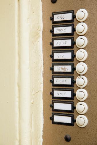 Intercom「UK, England, Oxford, Door bells with sign, close up」:スマホ壁紙(15)