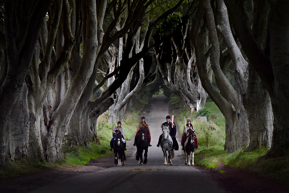 Game of Thrones「Game of Thrones' 'Dark Hedges' Welcome the Queen's Baton Relay」:写真・画像(1)[壁紙.com]