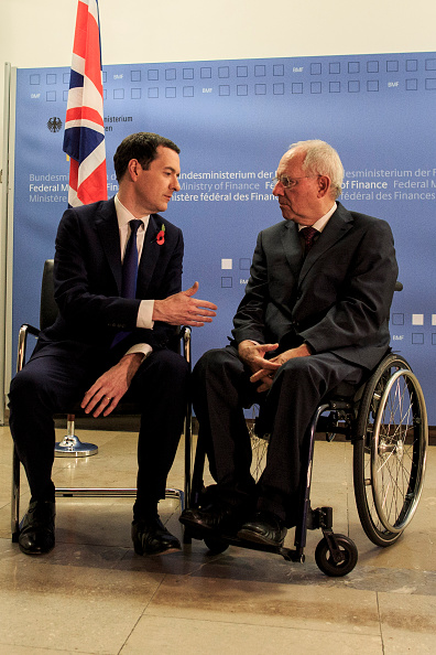 Finance and Economy「Schaeuble And Osborne Meet In Berlin」:写真・画像(4)[壁紙.com]