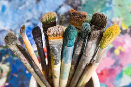 Artist's Palette「Lot of used paint brushes」:スマホ壁紙(17)