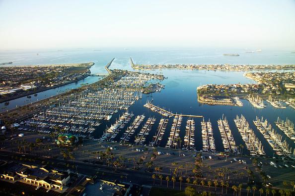 Sunny「Seal Beach Marina, California, USA, at dawn, aerial view」:写真・画像(12)[壁紙.com]