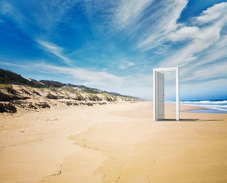 Nature「Open door beach concept」:スマホ壁紙(12)