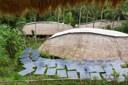 Ubud District「Solar panels in tropical garden」:スマホ壁紙(16)