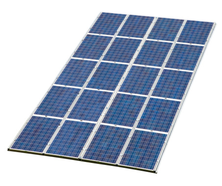 Solar Energy「Solar Panel Isolated on White with Clipping Path」:スマホ壁紙(3)