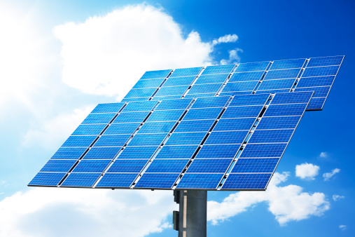 Power Supply「Solar panel with clear sky」:スマホ壁紙(10)