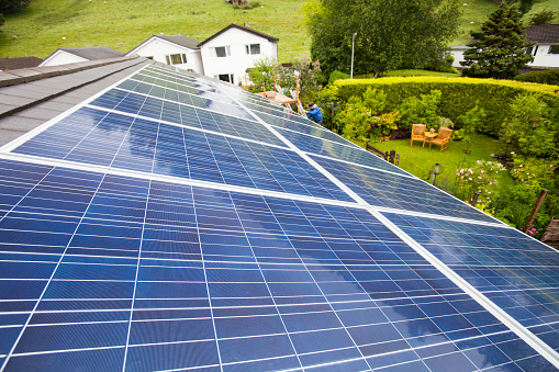Solar Energy「Solar panels on a house in Ambleside, Lake District, UK.」:スマホ壁紙(18)