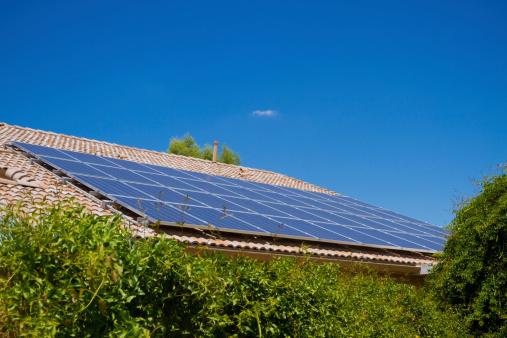 Solar Energy「Solar Panels and Greenery」:スマホ壁紙(16)