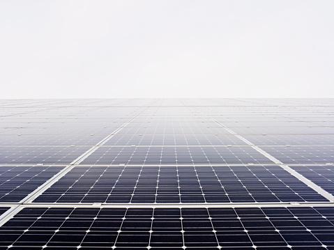 Solar Energy「Solar Panels in Mist near Hamburg, Germany」:スマホ壁紙(9)