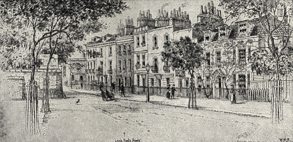 In A Row「Leigh Hunt  's house in Lower Cheyne Row, Chelsea.    From drawing by WN Burgess. English poet and drama critic.」:写真・画像(2)[壁紙.com]