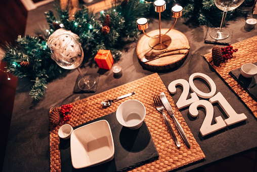 festive food for the New Year「celebrating the new year in the kitchen」:スマホ壁紙(19)