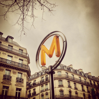 Auto Post Production Filter「Paris Metro Sign (Mobilestock)」:スマホ壁紙(7)