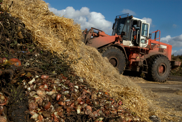 Grass「Tractor at site for recycling garden waste, Suffolk, UK」:写真・画像(13)[壁紙.com]