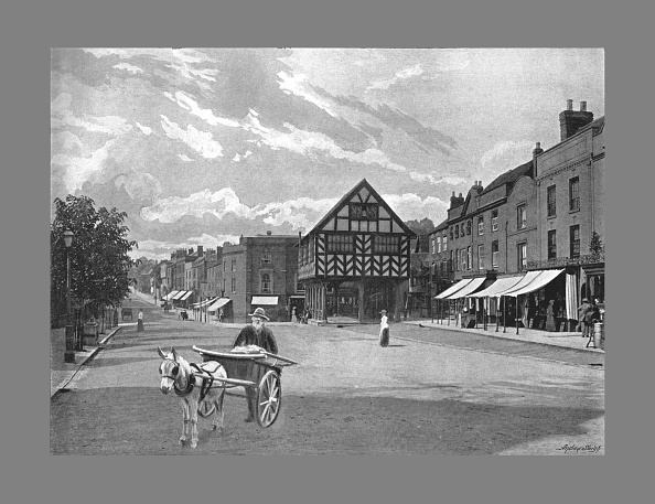 Hertfordshire「Market Place, Ledbury, C1900」:写真・画像(15)[壁紙.com]