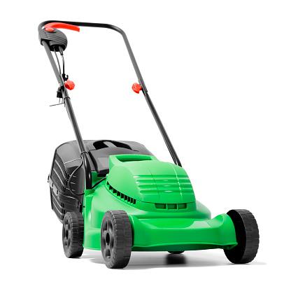 Lawn Mower「A brand new green electric power lawn mower」:スマホ壁紙(7)