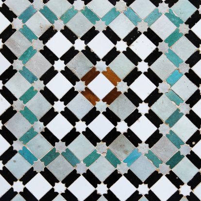 Mosaic「Colorful old tiles from Meknes medina in Morocco」:スマホ壁紙(18)