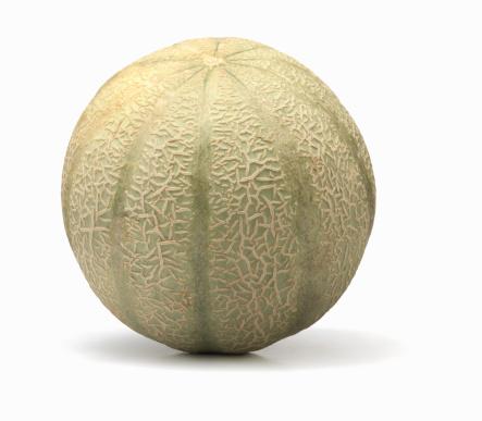 メロン「Cantaloupe on white background」:スマホ壁紙(4)