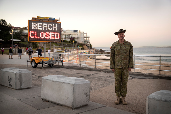 Beach「Australians Commemorate Anzac Day Differently Due To Coronavirus Lockdown」:写真・画像(4)[壁紙.com]