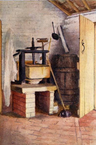 1900「'The old cheese press, Rolleston' by Kate Greenaway」:写真・画像(1)[壁紙.com]