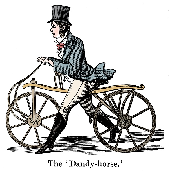 Cycle - Vehicle「A Dandy-Horse Or Draisienne Of The Type Fashionable C1820. Artist: Unknown.」:写真・画像(2)[壁紙.com]