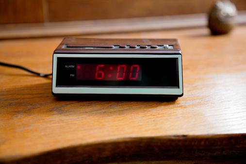 Waking up「Digital alarm clock showing 6.00am」:スマホ壁紙(16)