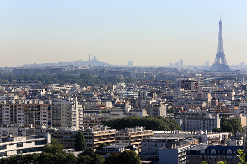 France「View of Paris & Saint-Cloud Park.  France.」:スマホ壁紙(14)