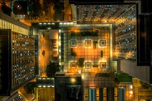 Housing Project「Drone view of Tai Po New Town, Hong Kong」:スマホ壁紙(18)