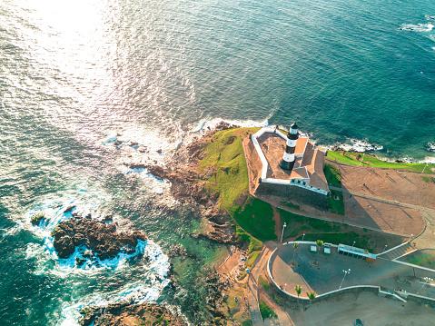 Northeast「drone view on lighthouse of Salvador da Bahia」:スマホ壁紙(14)