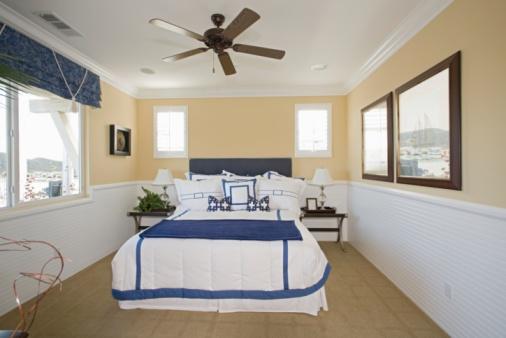 Ceiling Fan「Nautical themed bedroom of Palm Springs home」:スマホ壁紙(10)